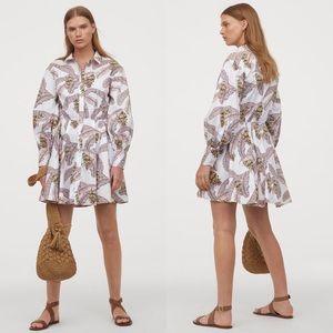 Desmond & Dempsey H&M Balloon-sleeved Cotton Dress